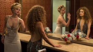 Jennifer Lawrence (left) and Amy Adams in American Hustle