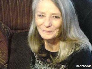 Image caption Marie King had been killed in a bedroom, said police - _72370200_marie_king2