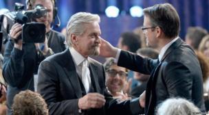Michael Douglas and Matt Damon