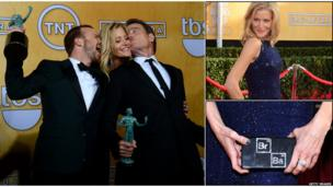 Bryan Cranston, Anna Gunn and Aaron Paul