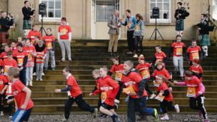 Prince Charles officially starts The Dumfries House Sport Relief Mile