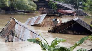 Village under water
