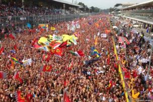 Fans at Monza