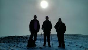 Walkers in the Pentland Hills
