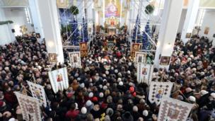 Funeral for murdered opposition activist Yuri Verbytsky, Lviv (24 Jan)
