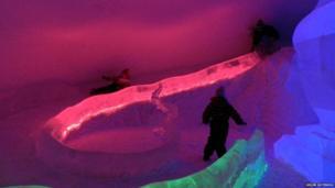Slide inside the SnowCastle of Kemi