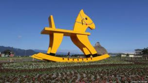 A 6.5m high model of a rocking horse