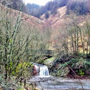 The top lake in Clydach Vale
