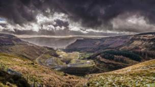 View from Rhigos mountain, Rhondda Cynon Taf
