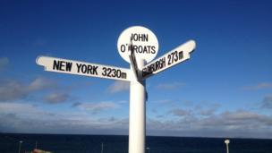 Signpost in John O'Groats