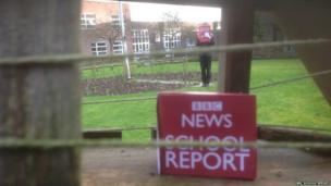 BBC mic cube in school garden