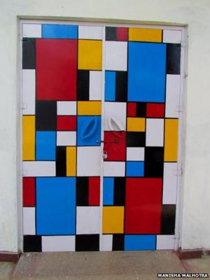 A colourful door
