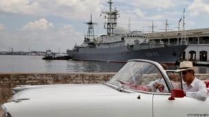 An American classic car in Havana, Cuba