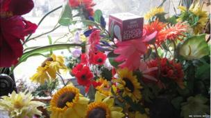 BBC mic cube in flowers