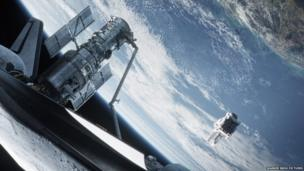 A scene from the film Gravity