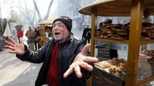Wounded man in Ankara (12 March 2014)