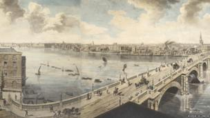 Henry Aston Barker, Detail of London from the Roof of Albion Mills, 1791 (large-scale panorama)