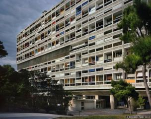 Unite d'habitation, Marseilles, 1946-52. General view from the west