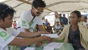 Oxfam at Bantayan Island in Cebu province, Visayas region, the Philippines