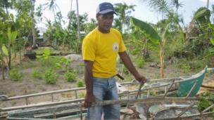 Fisherman Edgardo Postrero from Bantayan Island, Cebu province, Visayas region, the Philippines