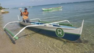 Spear fisherman Edgardo Postrero