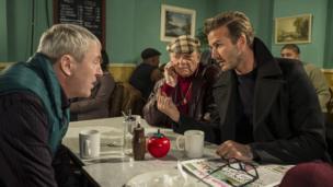 Nicholas Lyndhurst, Sir David Jason and David Beckham