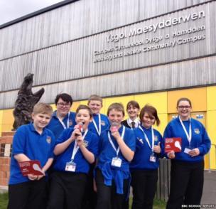 Students at Ysgol Maesydderwen get ready for News Day