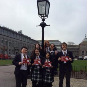 The School Report team at Robert Gordon's College in Aberdeen.
