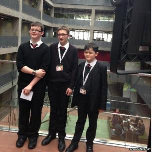 School reporters John, Adam and Adam from Hermitage Academy spent the morning reporting on the Scottish Referendum at Broadcasting House.