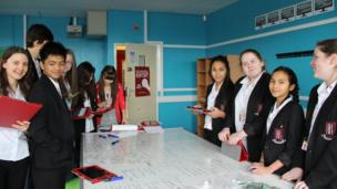 A picture of the pupils from Bishop Hedley Catholic High School hard at work