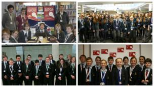 The School Report teams at The Morley Academy, Tarporley High School and Sixth Form College, Catmose College and The Marlborough House School.