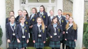 The School Report team at Lavant House.