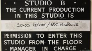 BBC News School Report studio board