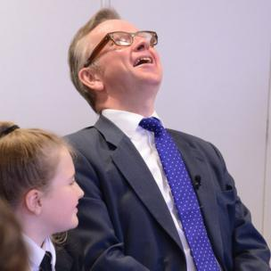 Michael Gove laughing