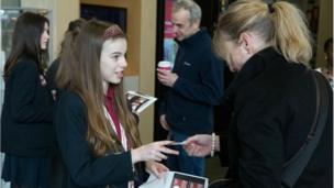 Essa Academy Newsround production meeting with presenter Martin Dougan.