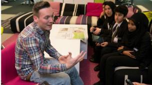 Martin Dougan being interviewed by Essa Academy.