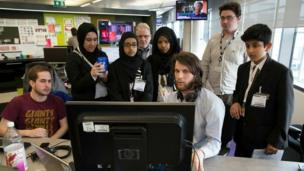 Essa Academy with the BBC Homepage team.