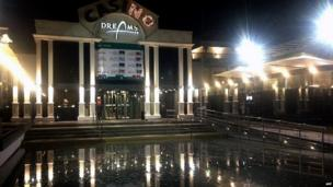 View of the local Casino flooded after a powerful 8.0-magnitude earthquake hit off Chile's Pacific coast, on April 1.