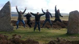 People at the Ring of Brodgar