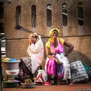 Two women in Johanesburg