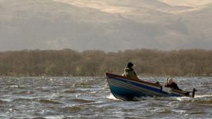 Anglers on Loch Lomond