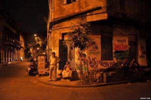 India election graffiti in Calcutta