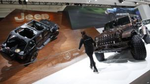 Jeep models on display