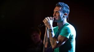 Adam Levine of Maroon 5