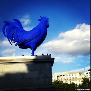 The fourth plinth in Trafalgar Square, London