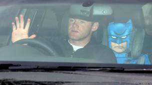 Manchester United's Wayne Rooney arrives at the club's training complex, Carrington, Manchester