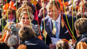 Queen Maxima and King Willem-Alexander in De Rijp, Netherlands for King's Day (26 April)