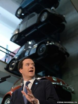 Chancellor George Osborne speaking at an event at the Science Museum in London