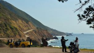 Rest stop along the Pacific Coast Highway