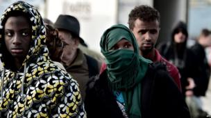 Migrants in Piraeus, Athens